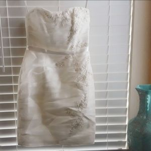 David's Bridal Strapless Dress